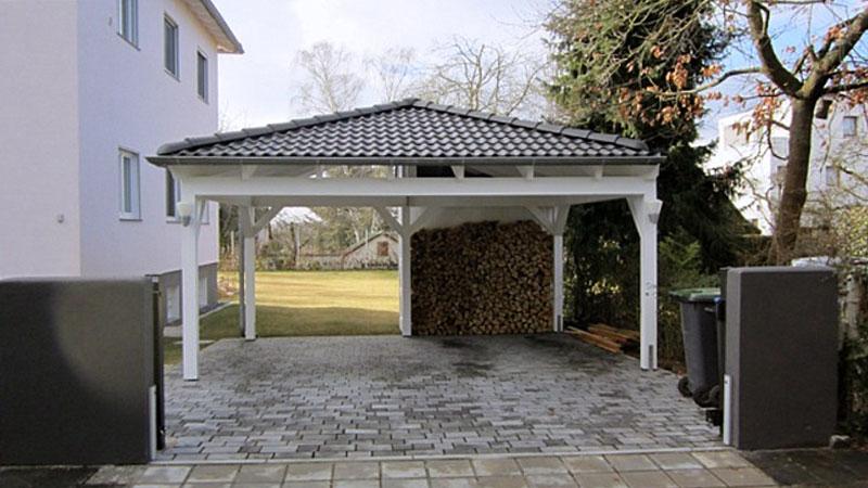 walmdach carport walmdachcarport in traditioneller bauweise. Black Bedroom Furniture Sets. Home Design Ideas