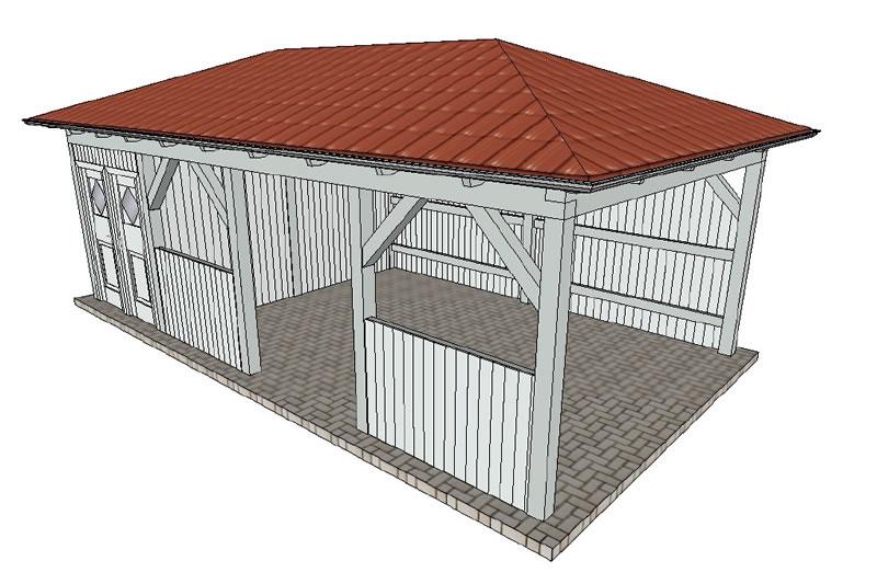 walmdach carport freistehender walmdachcarport mit. Black Bedroom Furniture Sets. Home Design Ideas
